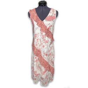 Alyn Paige Floral Ruffle V Neck Long Maxi Dress